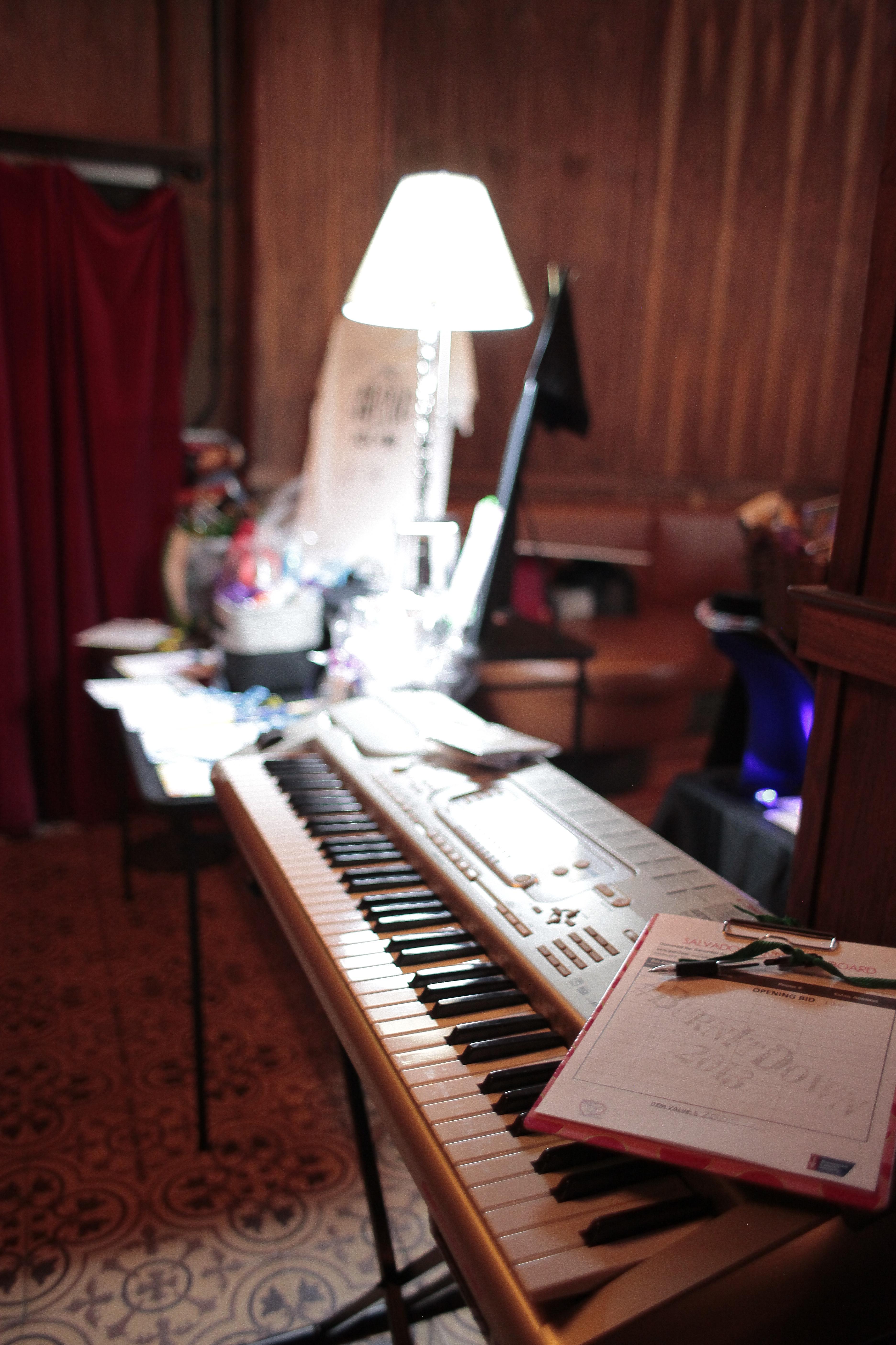 Salvador Santana signed keyboard