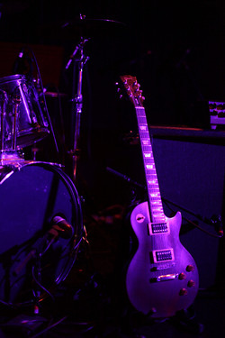 Setting up at the Troubadour