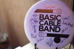 Drumhead signed by Conan cast