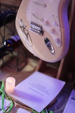 Guitar signed by Carlos Santana
