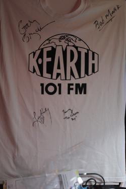 K-Earth 101 signed shirt