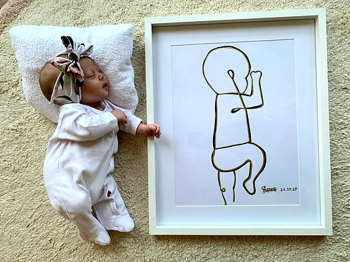 Baby Line Art