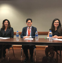 Legislative Briefing at the Capitol, (From left to right) Jodie Filkins Webber, Michael Li, Rep Mary Gonzales