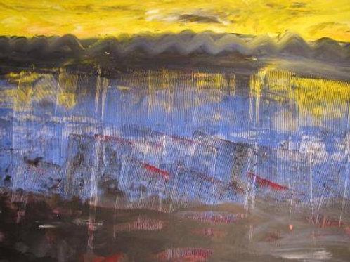 Lac de montagne - Acrylique - 80x120 cm