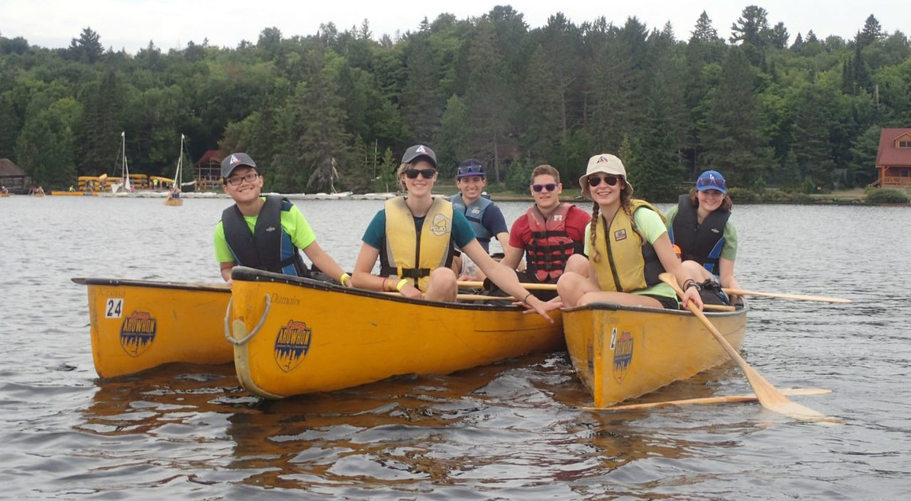 students on a canoe trip