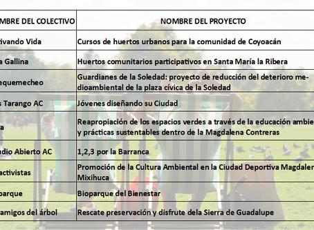 9 proyectos verdes serán apoyados por la Secretaría de Cultura de la Ciudad de México