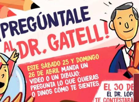 Niños preguntándole al Dr. López-Gatell