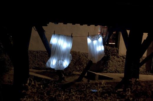 JESCE SOLE/RIGHT TO DRY site specific installation, Vico dei lavandai, Milan