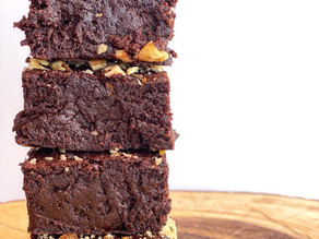 Fudgy Walnut Brownies (vegan)
