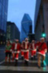 Santas Rampaging in Dallas