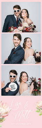 A photo booth strip in Adelaide