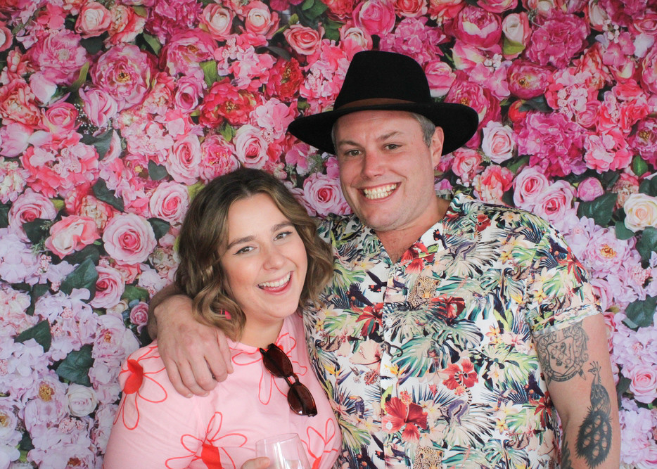 People in a photo booth in the adelaide hills