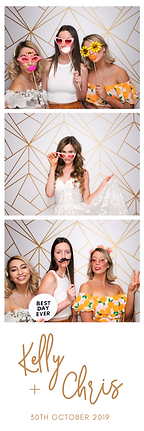 Example of a photo booth strip in Adelaide