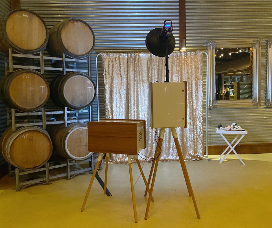 Photo booth at One Paddock Winery Currency creek South Australia