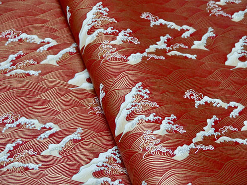 Vagues Hokusai - rouge