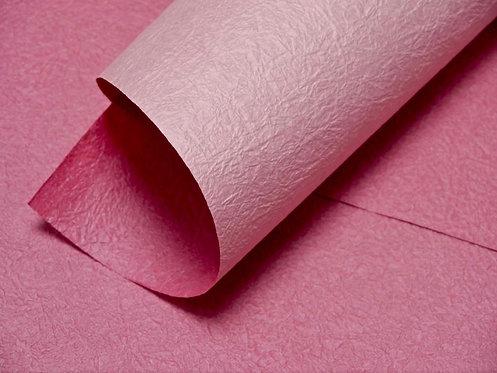 Papier froissé bicolore - rose