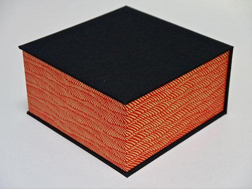 Coffret carré - Épis dorés - rouge