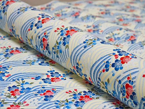 Vagues Sakura Umé - bleu