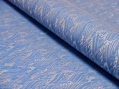 Vagues argentées - bleu