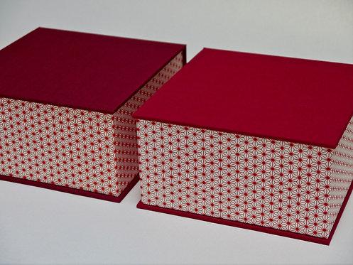 Coffret carré - Assanoha rouge