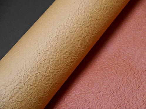Papier froissé bicolore - beige / brique