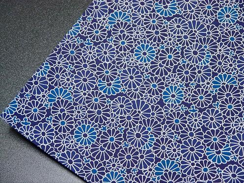 Kiku indigo - texture proche intissé