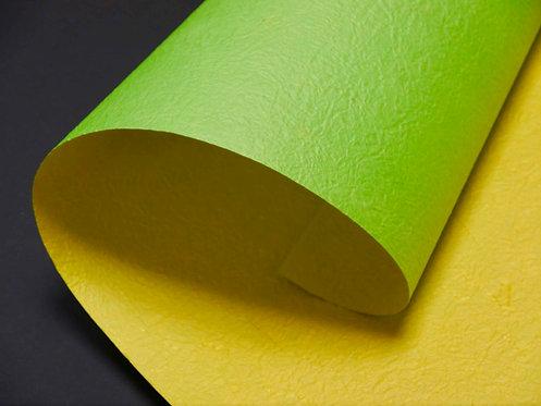 Papier froissé bicolore - jaune / vert