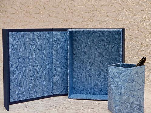 Coffret aimanté -Vagues bleues