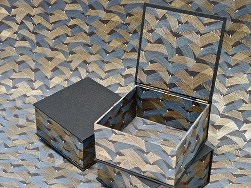 Coffret carré - Ailes - noir