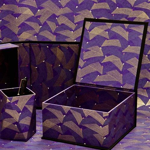 Coffret carré - Ailes - violet