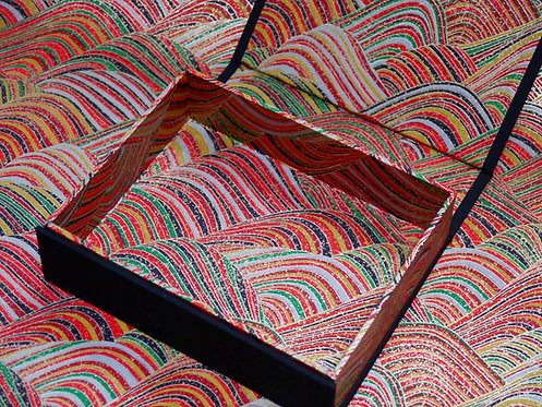 Coffret aimanté - Vagues polychromes - dominante rouge