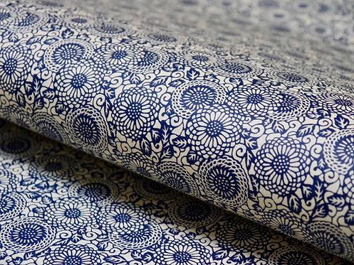 Tournesol - petites fleurs - bleu
