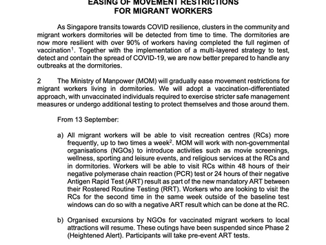 AGWO's Response to the Ministry of Manpower's Press Release on 9 September 2021