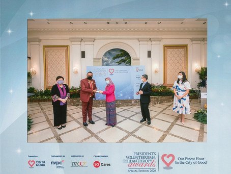 HIA Wins the President's Volunteerism and Philanthropy Award 2020