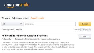 Aidez KAFO avec Amazon Smile!