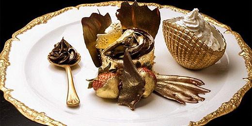 Blattgold Schoko-Cupcake