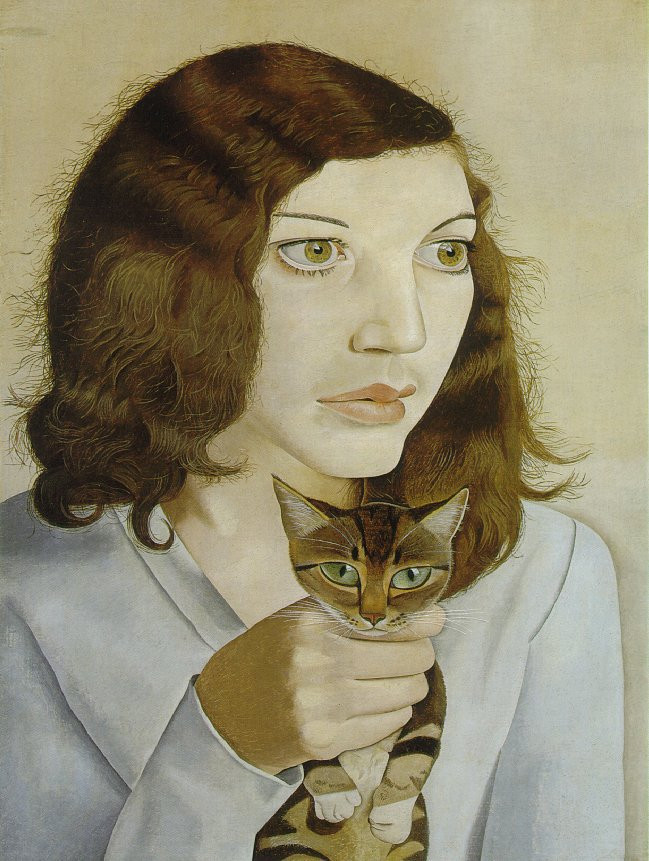 Lucien Freund; Girl with Kitten