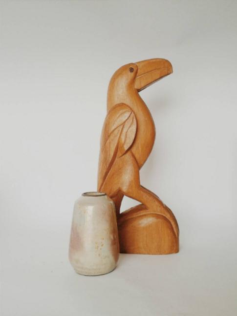Vintage Wooden Toucan