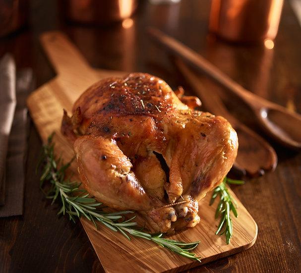 Oven Roasted Seasoned Whole Chicken
