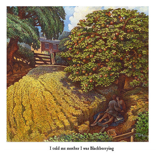 I told me mother I was Blackberrying Greetings Card