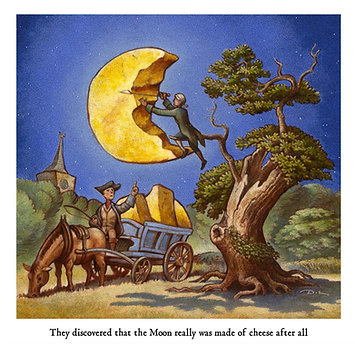 They discovered that the Moon really was made of cheese after all Greetings Card