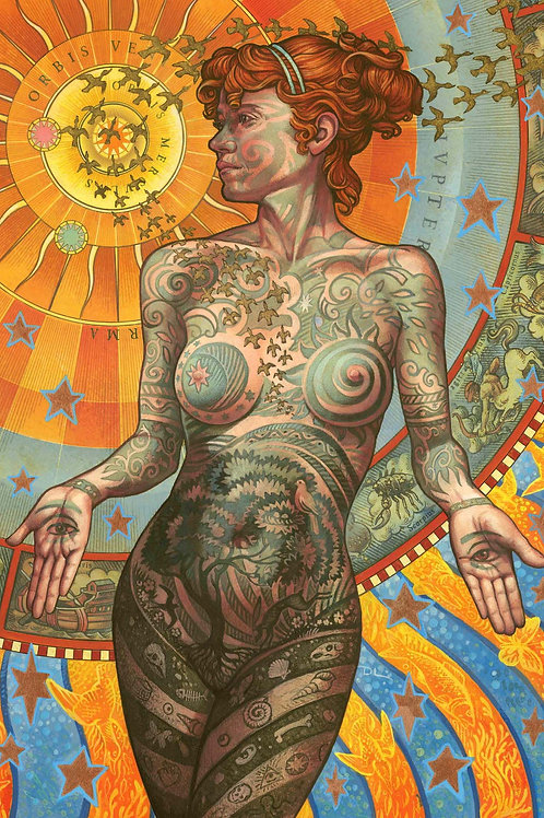 The TATTOOED LADY Greetings Card