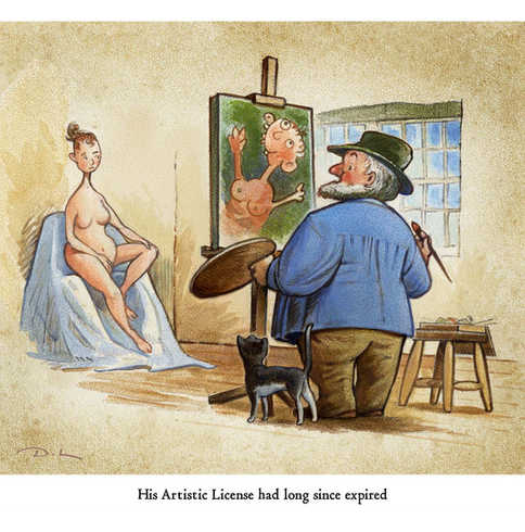 His Artistic Licence had long since expired