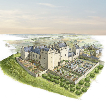 Huntingtower Castle reconstruction