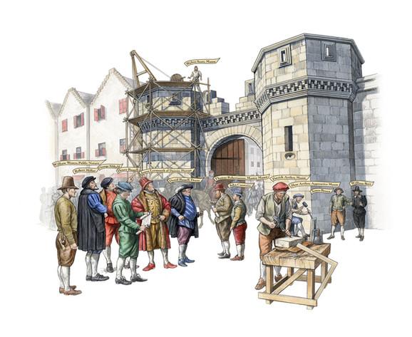 St Andrews Gate, Stirling reconstruction