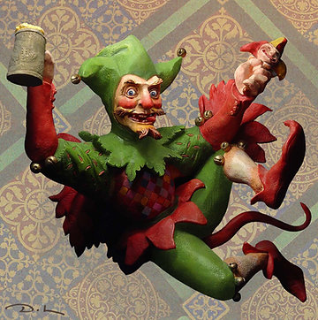 Jester SEASONAL - YULE - WASSAIL Greetings Card