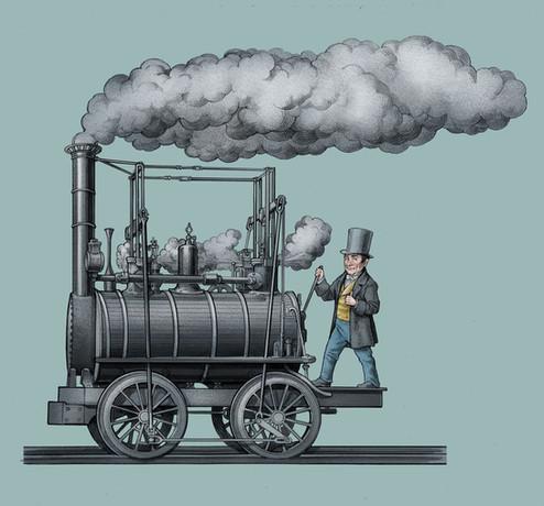 Stephenson's First Train