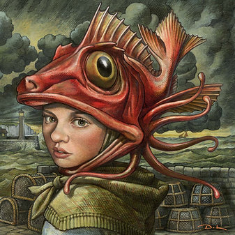The YOUNG FISHWIFE Greetings Card