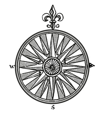 Oldstyle compass