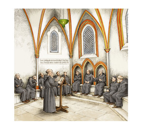 Inchcolm Chapter House reconstruction